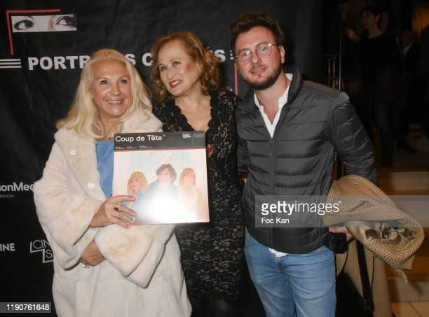 Romy Schneider and Patrick Dewaere Awards cofounder Martine Vidal Katia Tchenko and Xavier Vidal attend the Portraits Croisés Photo Exhibition...