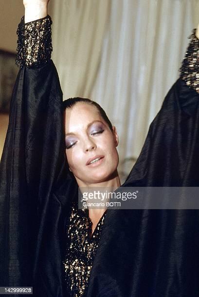 Romy Schneider at home 1974 in France
