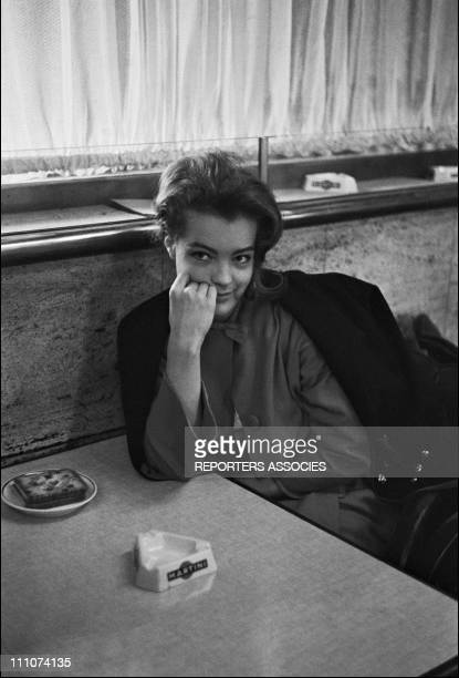 Romy Schneider at the set of 'Le proces' by Orson Welles in France on May 30th 1962
