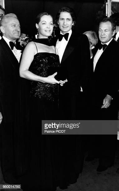 Romy Schneider et son mari Daniel Biasini au Festival de Cannes en mai 1978 Cannes France
