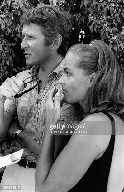 Romy Schneider et son mari Harry Meyen circa 1960 en France