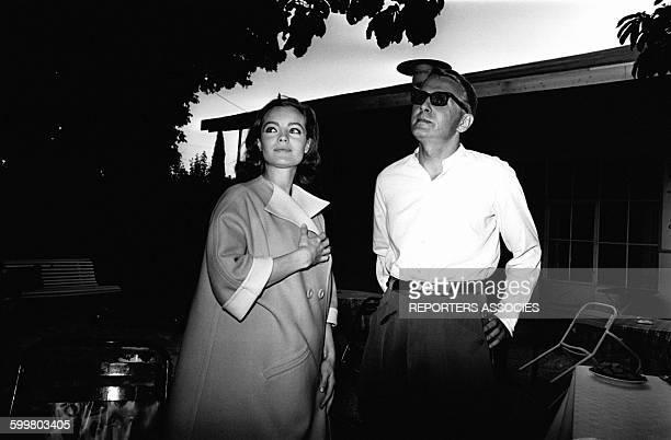 Romy Schneider et son époux Harry Meyen en 1966