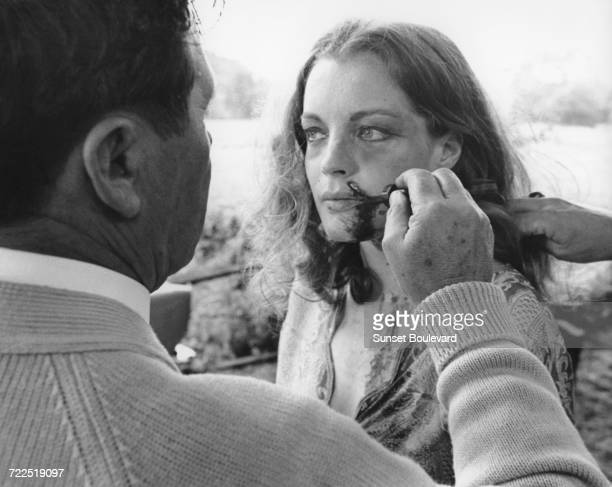 Romy Schneider has make up applied on the set of 'My Lover My Son' directed by John Newland London 1970