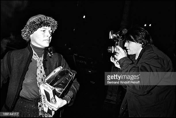 Romy Schneider in Paris in 1981