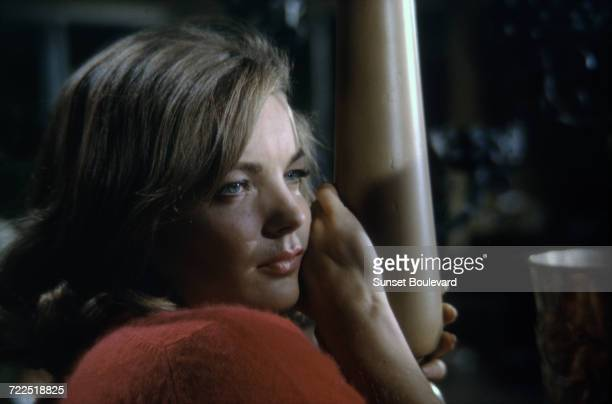 Romy Schneider on the set of 'My Lover My Son' directed by John Newland London 1970