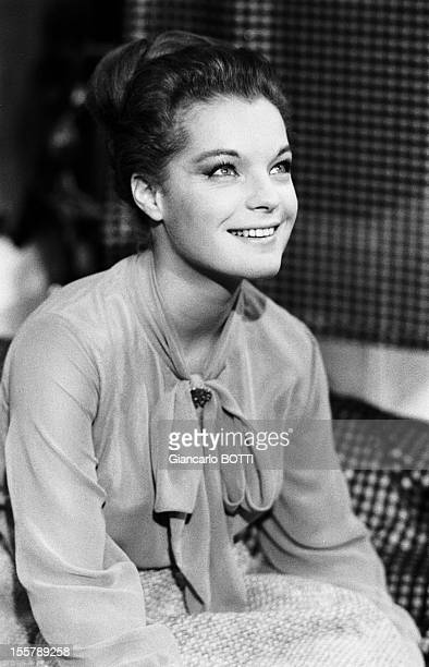 Romy Schneider on the set of 'What new Pussycat' 1964 in France