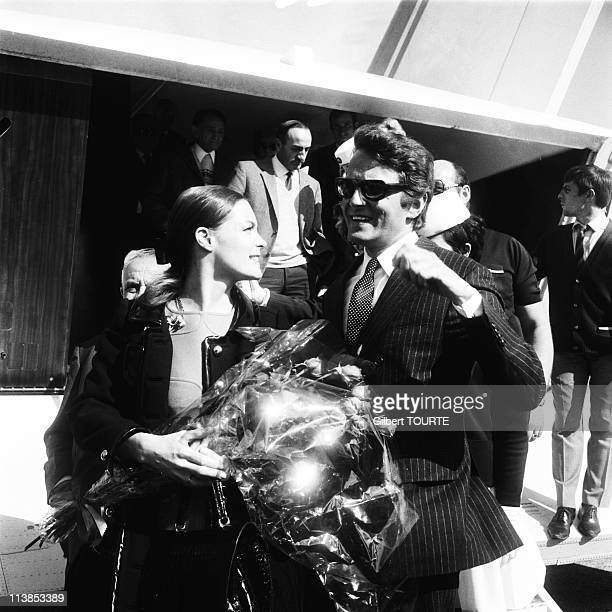 Romy Schneider with her husband Harry Meyen at Cannes Film Festival in 1969