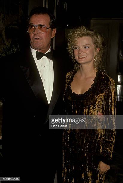 Romy Walthall and James Garner attend Television Academy Hall of Fame Awards on September 23, 1991 at the Beverly Wilshire Hotel in Beverly Hills,...