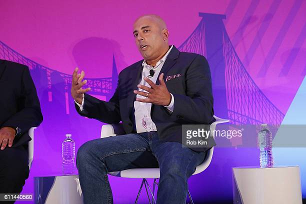 Ron Amram speaks onstage at the Getting Native Video Right A Brand Playbook panel on the ADARA Stage at Times Center Hall during 2016 Advertising...