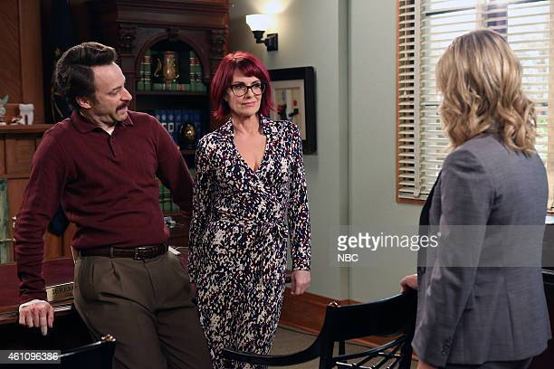 RECREATION 'Ron and Jammy' Episode 702 Pictured Jon Glaser as Councilman Jamm Megan Mullally as Tammy Amy Poehler as Amy Poehler