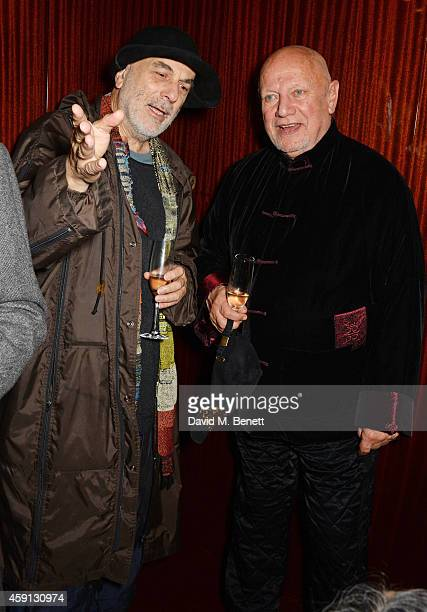 Ron Arad and Steven Berkoff attend the Liberatum Cultural Honour for Francis Ford Coppola at The Bulgari Hotel on November 17 2014 in London England