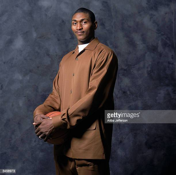 Ron Artest of the Indiana Pacers poses for a portrait during the 2004 NBA AllStar Weekend on February 13 2004 in Los Angeles California NOTE TO USER...