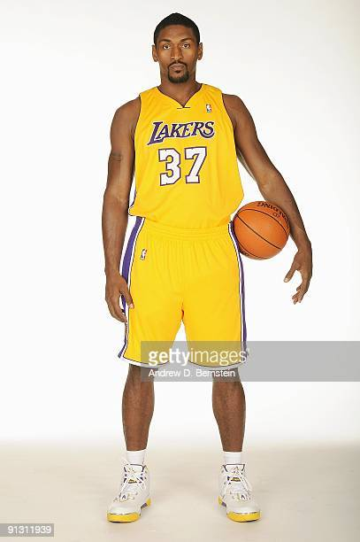 Ron Artest of the Los Angeles Lakers poses for a portrait during 2009 NBA Media Day on September 29, 2009 at Toyota Sports Center in El Segundo,...
