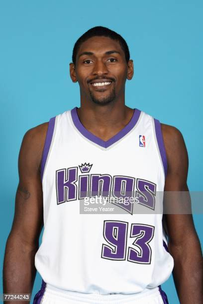 Ron Artest of the Sacramento Kings poses for a portrait during Media Day on October 1 2007 at the Practice Facility in Sacramento California NOTE TO...