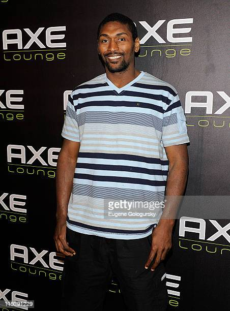 Ron Artest visits the AXE Lounge in Southampton at AXE Lounge on July 16 2011 in Southampton New York
