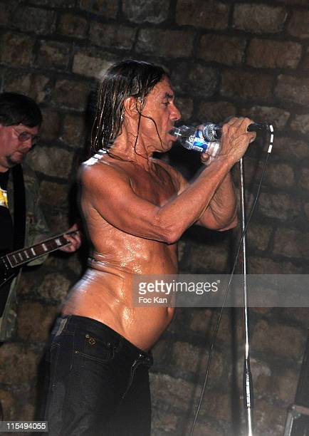 Ron Asheton and Iggy Pop of The Stooges perform at The Converse 100th Anniversary Party and Iggy Pop Concert at the Show Case Club on September 04...