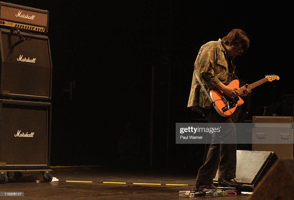 Ron Asheton, original guitarist of The Stooges during Iggy Pop and the Original Stooges, Ron Asheton and Scott Asheton, Homcoming Concert at in Clarkston, Michigan on August 25, 2003 at DTE Energy Music Theater in Clarkston, Michigan, United States.