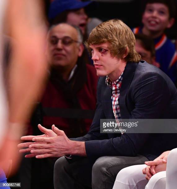 Ron Baker attends the New York Knicks Vs San Antonio Spurs game at Madison Square Garden on January 2 2018 in New York City