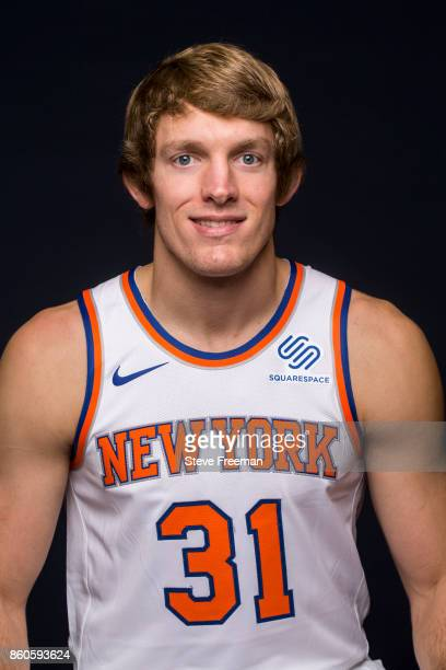 Ron Baker of the New York Knicks poses for a portrait at the Knicks Practice Center on October 11 2017 in Tarrytown New York NOTE TO USER User...