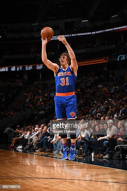 Ron Baker of the New York Knicks shoots the ball against the Denver Nuggets on December 17 2016 at the Pepsi Center in Denver Colorado NOTE TO USER...