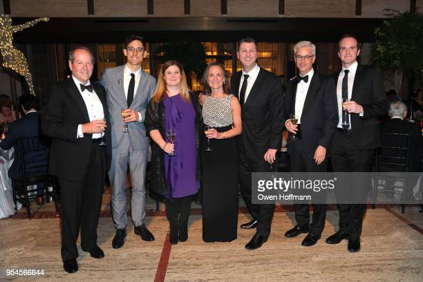 Ron Beck Justin Peck Marianne Lake Kathy Brown Warren Carlyle Charles Scharf and Jonathan Stafford attend New York City Ballet 2018 Spring Gala at...