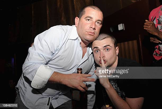 Ron Berkowitz and Robert Iler attend the Wings Of Love Fashion Show at Tantra Nightclub and Sanctuary on May 30 2009 in St Maarten Netherlands...