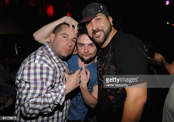 Ron BerkowitzRobert Iler and Joey Fatone attend Tantra Nightclub for the Tourism Season 2010 launch at The Island on December 5 2009 in St Maarten...