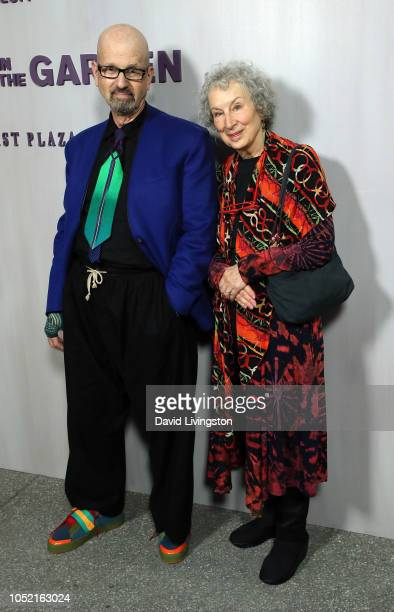 Ron Bernstein and Margaret Atwood attend the 2018 Hammer Museum Gala In The Garden on October 14 2018 in Los Angeles California