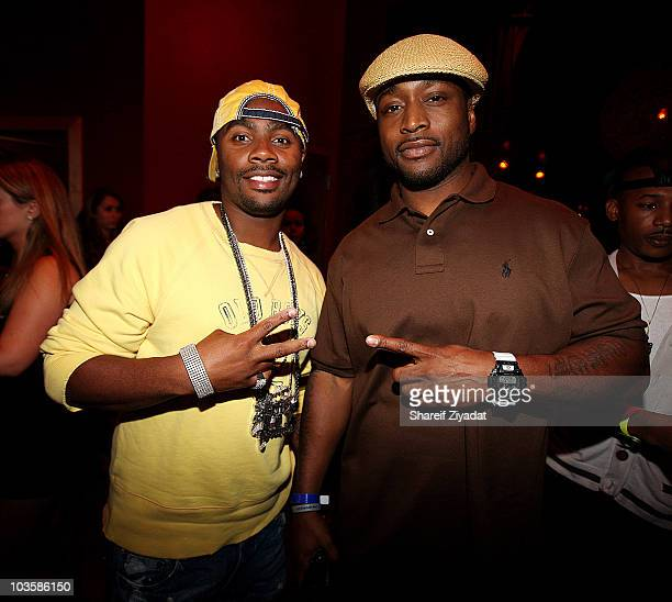 Ron Brownz and Freekey Zekey attend the YRB Magazine Art Issue Release Party at Lucky Strike on August 23, 2010 in New York City.