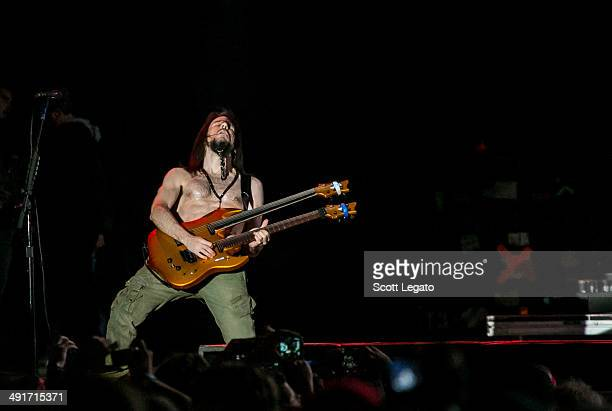 Ron 'Bumblefoot' Thal of Guns and Roses performs during 2014 Rock On The Range at Columbus Crew Stadium on May 16 2014 in Columbus Ohio