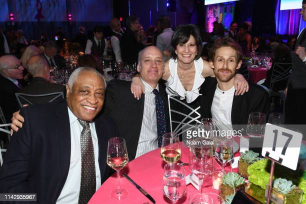 Ron Canada Frank Wood Ellen Weinstein and Adrian DanchigWaring attend the National Dance Institute's 43rd Annual Gala at Ziegfeld Ballroom on April...