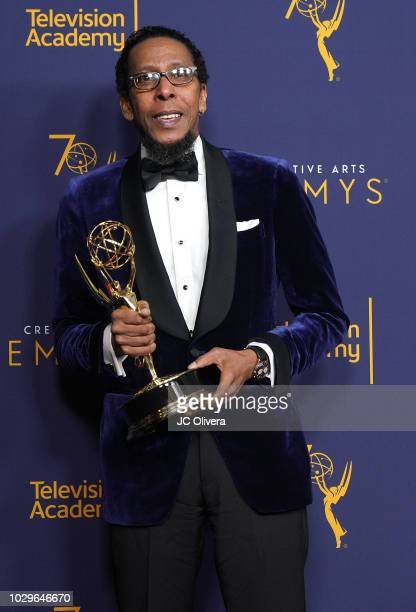 Ron Cephas Jones winner for outstanding guest actor in a drama series for the 'A Father's Advice' episode of 'This is Us' poses in the press room...