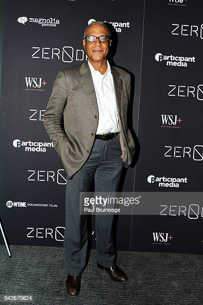 Ron Claiborne attends WSJ Presents the New York Premiere of ZERO DAYS at New York Institute of Technology on June 23 2016 in New York City
