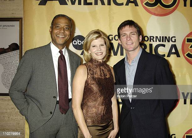 Ron Claiborne Kate Snow and Bill Weir during Good Morning America 30th Anniversary Celebration at Avery Fisher Hall in New York City New York United...