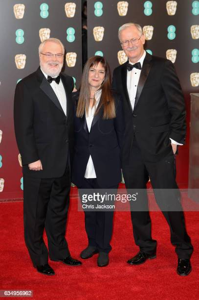 Ron Clements Osnat Shurer and John Musker attend the 70th EE British Academy Film Awards at Royal Albert Hall on February 12 2017 in London England