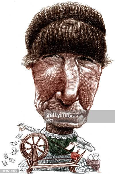 Ron Coddington caricature of author Anne Tyler Tyler noted for spinning a good yarn has published 14 novels which have won her critical acclaim and...