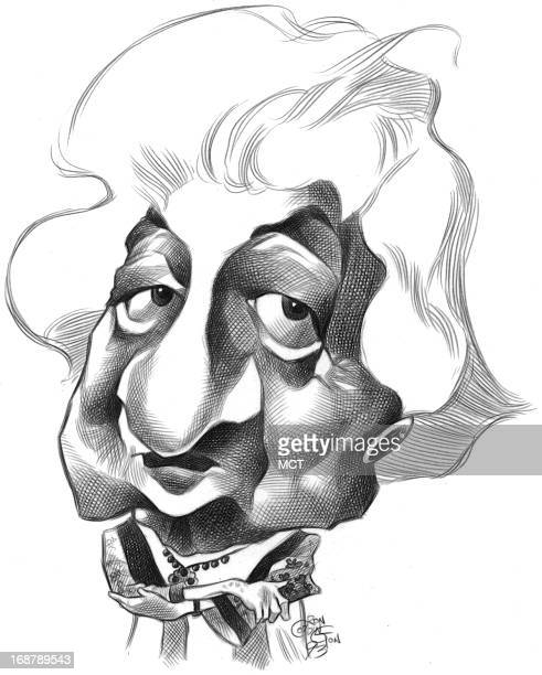 Ron Coddington caricature of author Betty Friedan