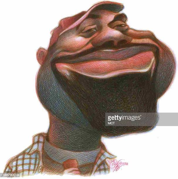 Ron Coddington caricature of Darius Rucker lead singer of Hootie and the Blowfish