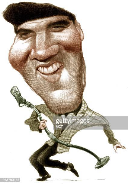 Ron Coddington caricature of Elvis Presley