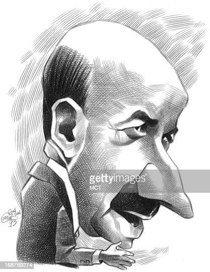 Ron Coddington caricature of former Mexican President Carlos Salinas.