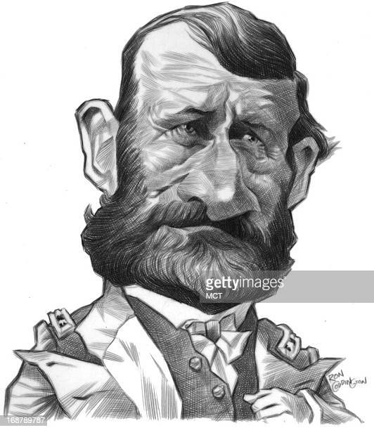 Ron Coddington caricature of former US President US Grant