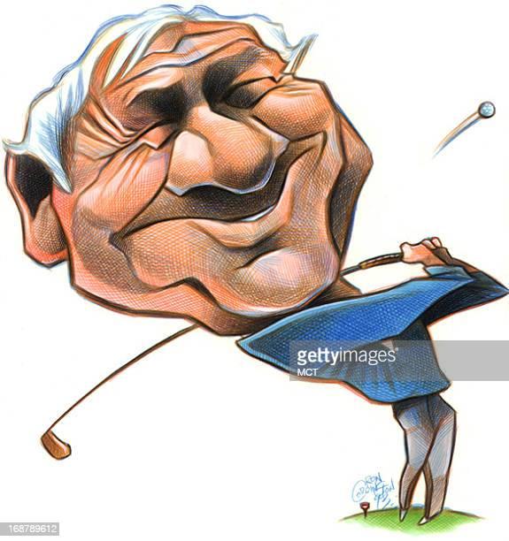 Ron Coddington caricature of golfer Arnold Palmer