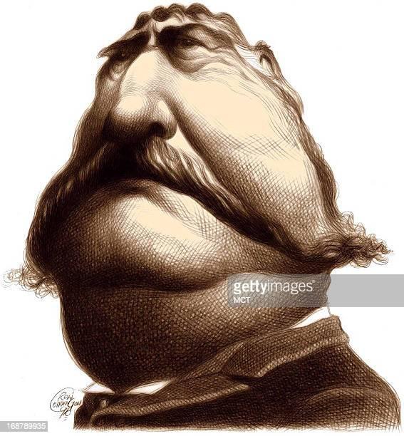 Ron Coddington caricature of US president Chester Alan Arthur