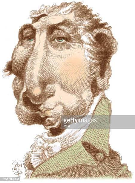 Ron Coddington caricature of US president James Monroe