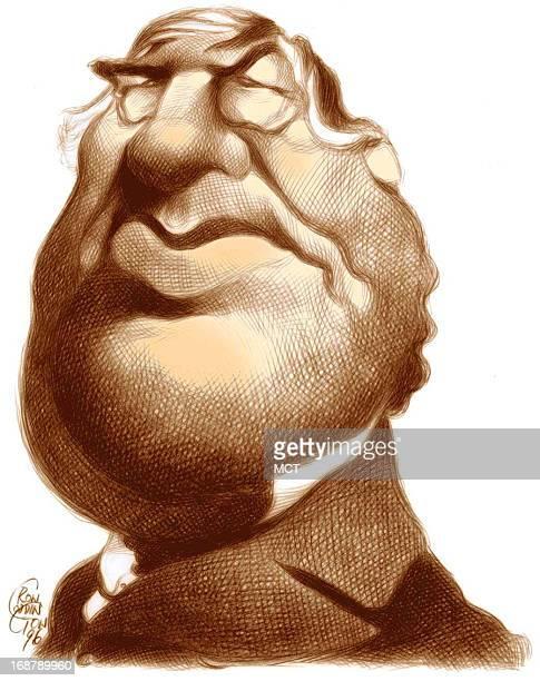 Ron Coddington caricature of US president Millard Fillmore