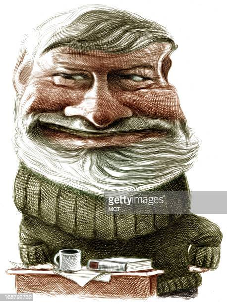 Ron Coddington caricature of writer Ernest Hemingway