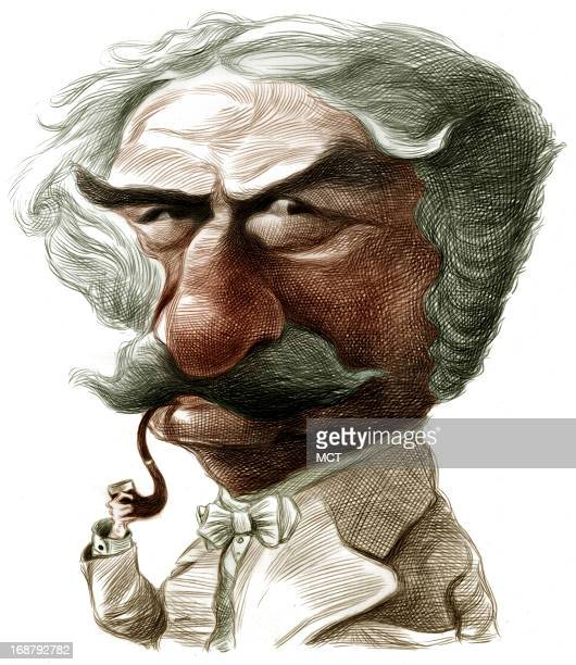 Ron Coddington caricature of writer Mark Twain