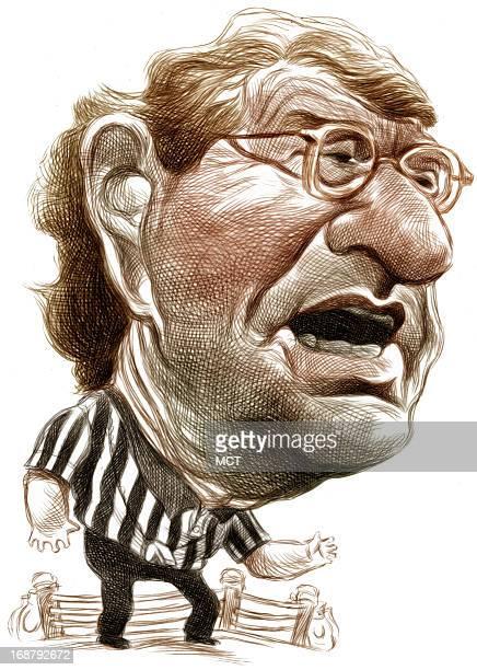 Ron Coddington color caricature of controversial TV talk show host Jerry Springer