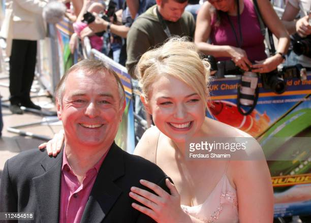 Ron Cook and Sophia Myles during Thunderbirds UK Premiere Arrivals at Empire Leicester Square in London Great Britain