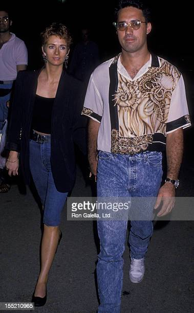 """Ron Darling and wife Antoinette O'Reilly attend the performance of """"The 12th"""" on July 21, 1989 at the Delacorte Theater in New York City."""